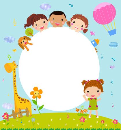 children group: Kids and frame
