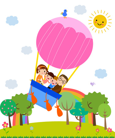 family vacations: family Illustration