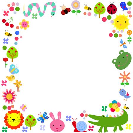 infancia: Los animales lindos del fondo