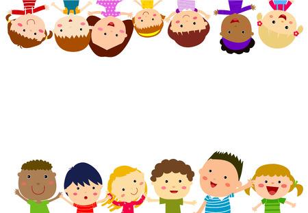 group of kids: Group of Kids Illustration
