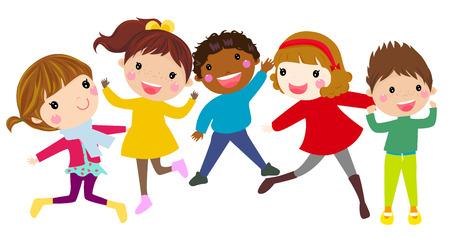 art activity: Children Jumping