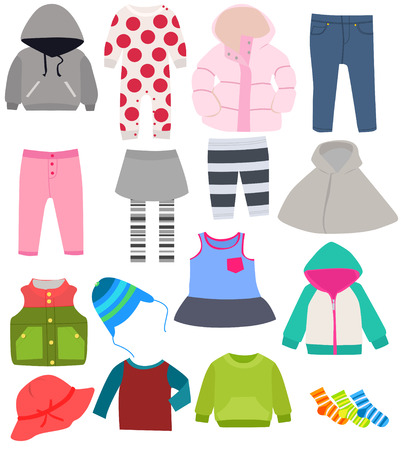 winter clothes: set of childrens clothes