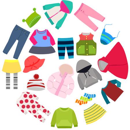 Set de ropa de niños Foto de archivo - 42831859