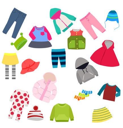 warm clothing: set of childrens clothes