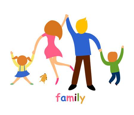 가족: 가족 일러스트