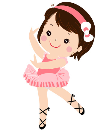 little girl dancing: ballet girl