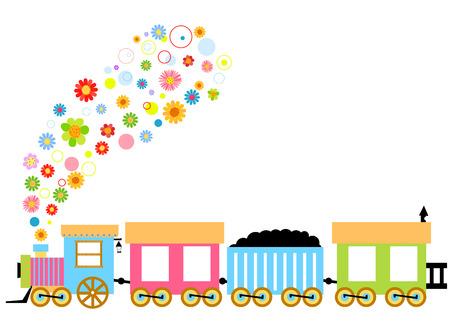 Cute trains Vector Illustration