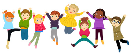 子供をジャンプ
