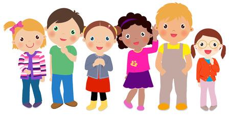blonde females: Group of kids