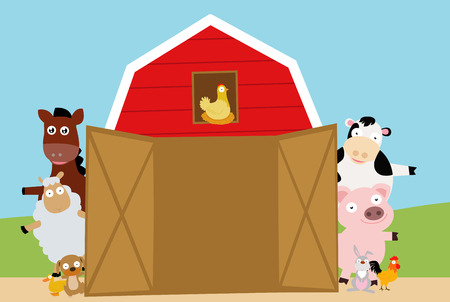 hay bale: farm animals