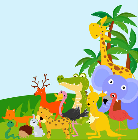 forest jungle: animals
