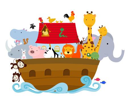 252 noah ark cliparts stock vector and royalty free noah ark rh 123rf com Noah's Ark Black and White Noah's Ark Cartoon