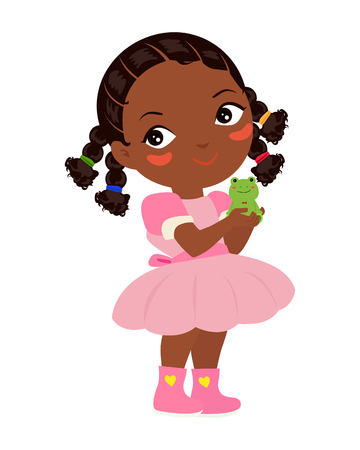 fashion story: Princess and frog illustration Illustration