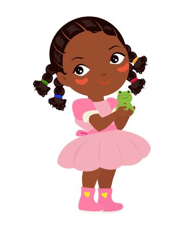 tanzen cartoon: Prinzessin und Frosch Illustration