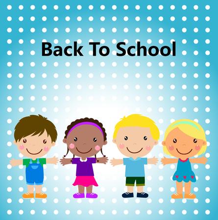 group of kids: group of kids, back to school Illustration