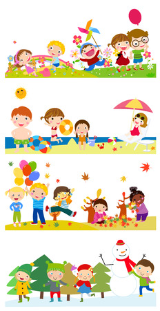 the animated cartoon: happy kids