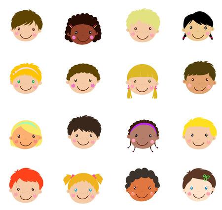ojos negros: los niños y niñas se enfrentan conjunto