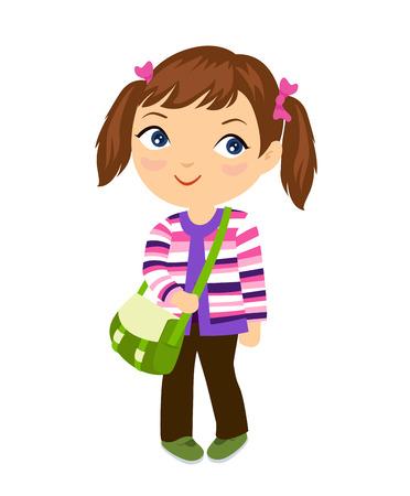 young schoolgirl: Cute student girl