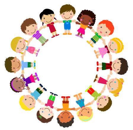 Kids standing around  イラスト・ベクター素材