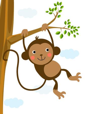 jungle scene: monkey