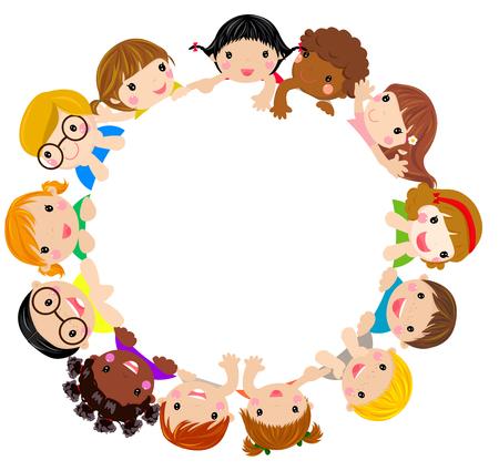 niño escuela: Niños y marco Vectores