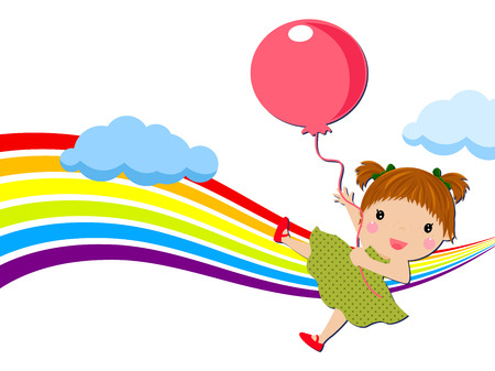 balloon girl: Little girl with balloon