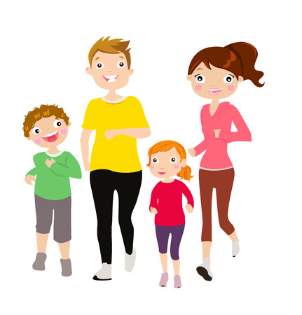 family: family running Illustration