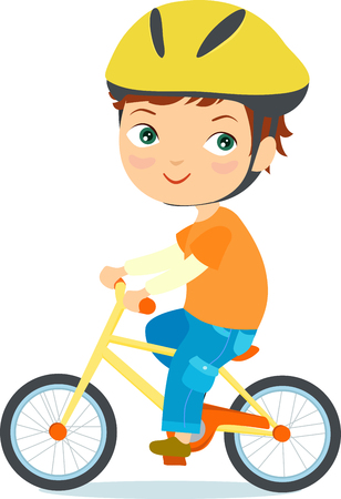 zapatos caricatura: Muchacha en una bicicleta Vectores