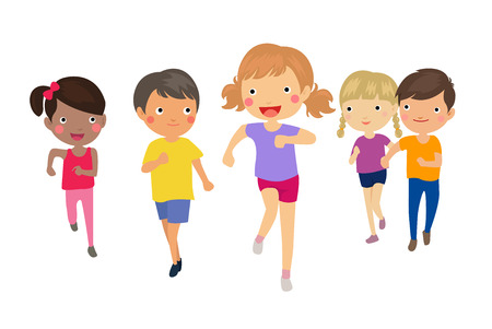 kid smile: running children