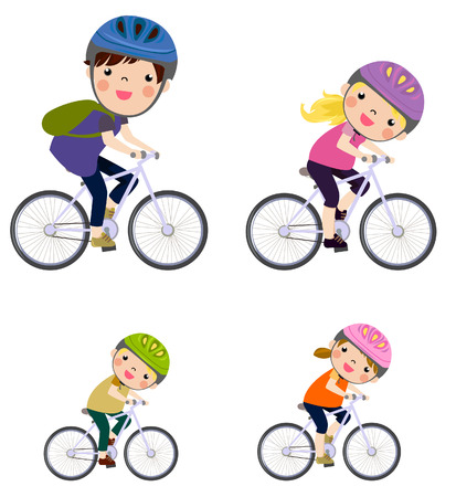 sport girl: A Family Biking Together