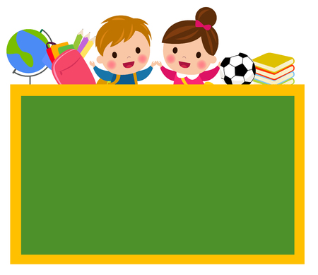 Student and blackboard