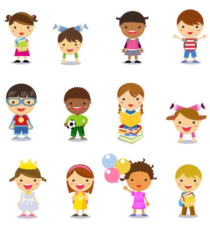 Group of kids set