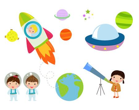 skyrocket: Kids and space