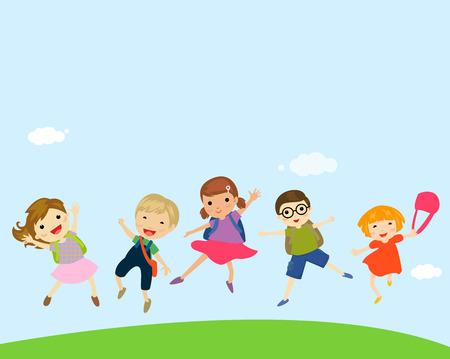 merrily: Group of children