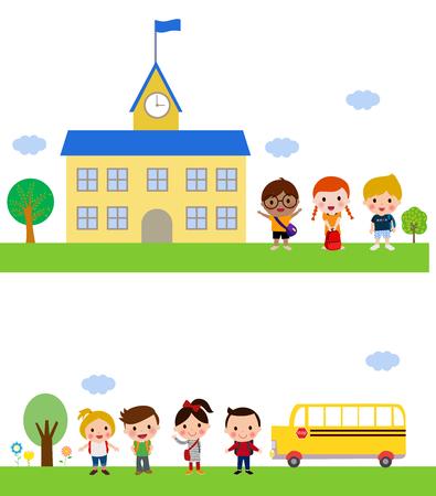 school: School kids Illustration