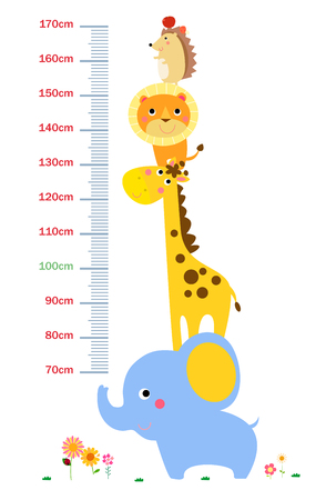 The child's height illustrations 矢量图像