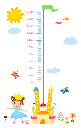 height: The childs height illustrations Illustration