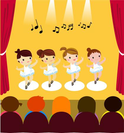 little ballerinas Illustration