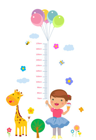 The childs height illustrations Illustration