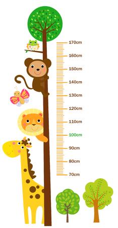 The child's height illustrations Vettoriali