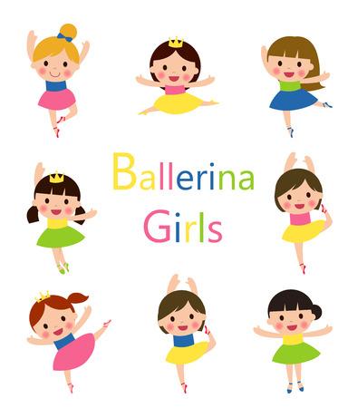 rehearsal: Illustration of Girls Doing Ballet