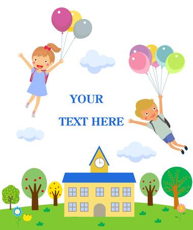 School kids Illustration