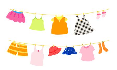 set of children clothes Illustration