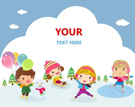 Happy children Ilustracja
