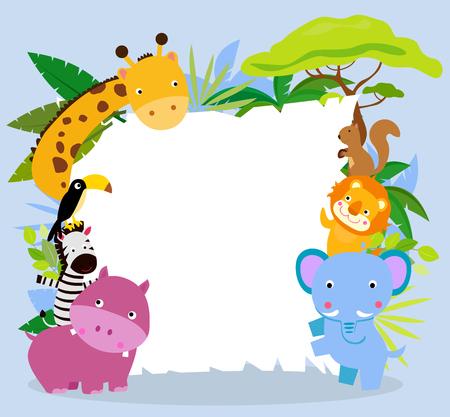 animals background frame