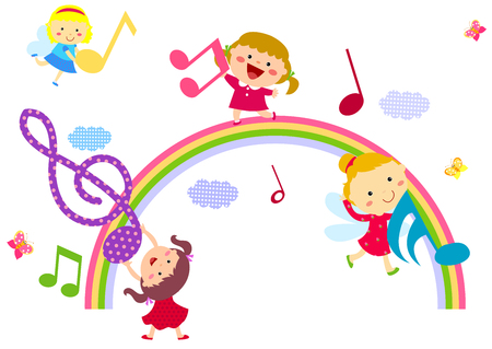 Little girls and music