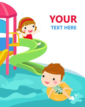 water slide for family and children.