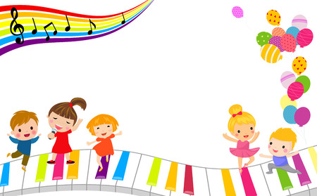Children and music frame