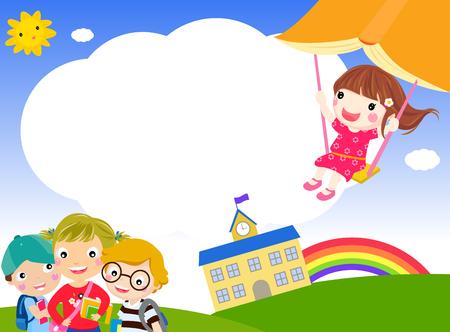 Happy students Illustration