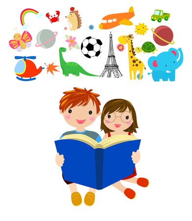 Children and book
